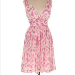 Trina Turk Pink and White Silk Cocktail Dress 2